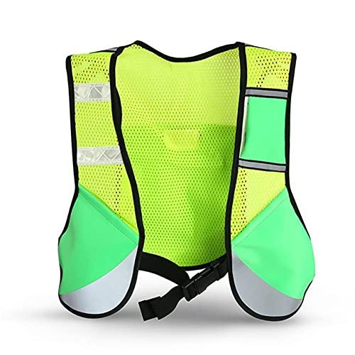 WCN Chaleco Reflectante Multifunción Night Running Sporting Reflective Ciclismo Correr Chaleco Ajustable Seguridad de Alta Visibilidad Chaleco Reflectante Chaleco chalec (Color : 02)
