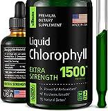 Chlorophyll Liquid Drops - Energy Boost & Immune Support - Made in USA - Fast-Absorbing Liquid Chlorophyll - Internal Deodorant & Detox - Vegan & Non-GMO - 2 fl oz