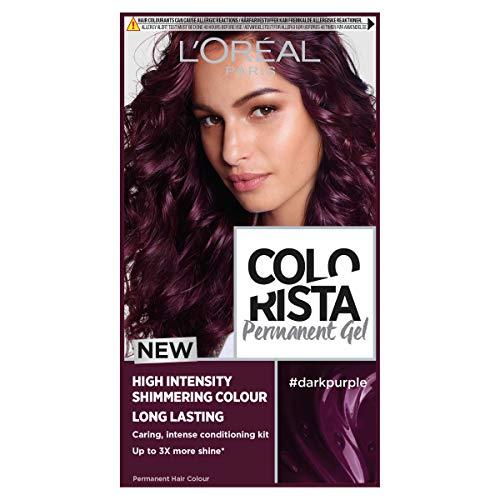 L'Oreal Paris Colorista Dark Purple Permanent Hair Dye Gel Long-Lasting...