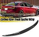 ZQTG Real Carbon Fiber Auto Heckkoffer Kofferraum Lip Spoiler Wing Lip Quadrifoglio Style Rennspoiler für Alfa für Romeo Giulia 2017-2019