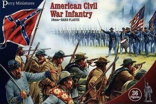 PMACW1 Perry Miniatures 28mm - American Civil War Infantry model soldiers