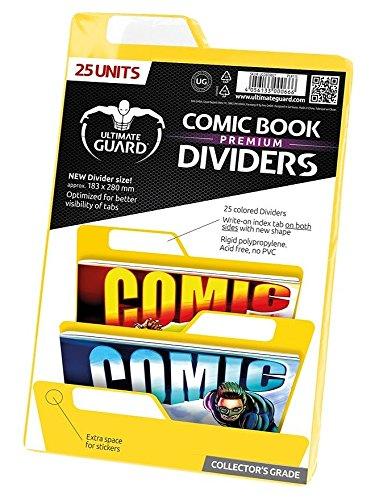 Ultimate Guard Premium Comic Book Intercalaires (Lot de 25, Jaune)