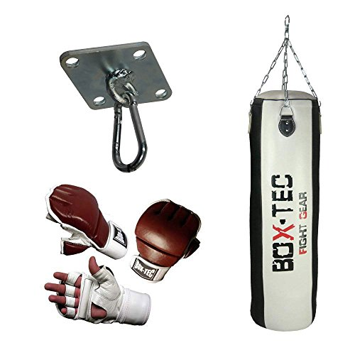 Box-Tec Boxsack/Punching Bag Studioline 120cm, gefüllt, Black & White - Edition, Cuba (Gr. L)