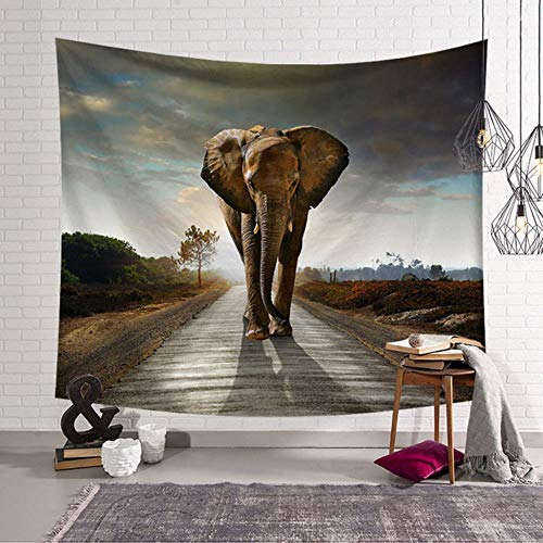 3D African Elephant Tapestry Hanging Wall Blankets Beach Towel Decoration Wall Tapestry Wall Hanging Mandala Blanket