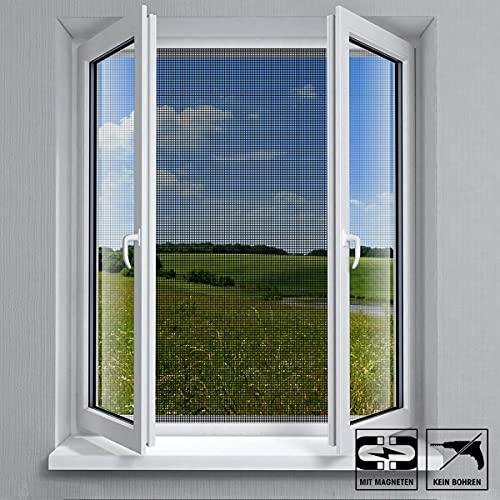 VABIONO Fliegengitter mit Magnet-Befestigung für Fenster • Moskitonetz Mückenschutz Insektenschutz (schwarz 150x130cm)