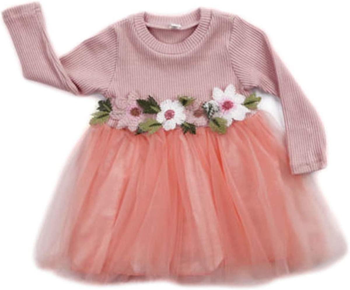 Toddler Kids outlet Baby Girls Knitted Tulle Ranking TOP8 Dr Tutu Jersey Cap Dresses