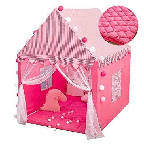 Tiendas de Niños Tienda De Niños Rosa, Espacio Independiente para Niñas, Carpa De Juego Interior, Materiales Ecológicos, 110x140x145cm (Color : Style 3)