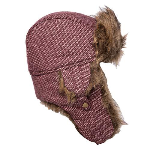 Capelli New York Wintermütze für Damen, Kunstfell, warm, mit Ohrenklappen, Weinrot