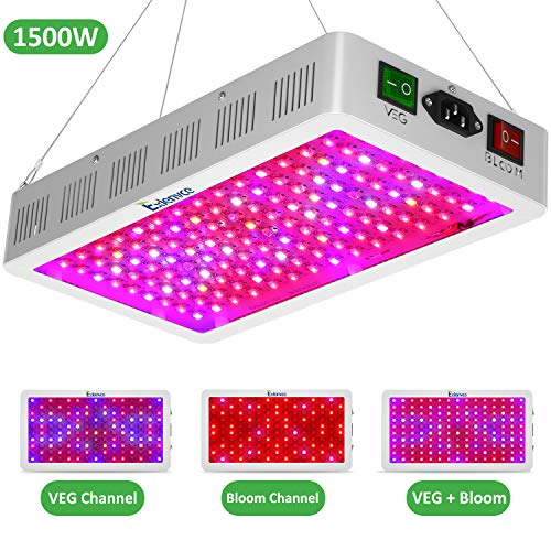 Exlenvce 1500w LED Grow Light Full Spectrum with Triple-Chips 15W LED, Dual Switch Plant Growing Lamps for Indoor Plants Veg and Flower (Daisy Chain Available)