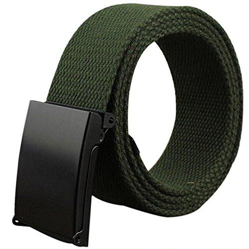 Leisial™ Hombre Mujer Cinturón de Lona Deporte al Aire Ocio Colores Dulces Cinturones Hebilla de Metal Correa Automático Hebilla
