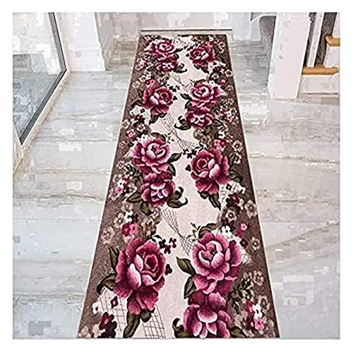 Langer Flur Hall Runner schmaler Teppiche Pfingstroy Design Runner Teppich für Flur mit Rutschfester Rücken, 3D-Eintrittsmatte, Korridor-Küchenschlafzimmer-Teppichboden, 60cm / 80 cm / 90 cm breit