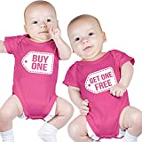 Nursery Decals and More Twin Girls Bodysuits, Includes 2 Bodysuits, 0-3 Month Buy One Get One
