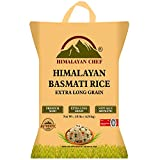Himalayan Chef Basmati Rice Long-Grain Rice, Fluffy & Quick Cooking, Aromatic, 10 lbs