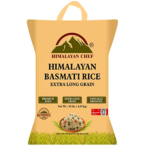 Himalayan Chef Basmati Rice Long-Grain Rice, Fluffy & Quick Cooking, Aromatic, 10 lbs