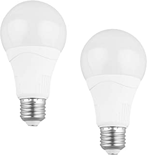 Radar Motion Sensor Light Bulb, 2 Pack A21 15W (100W Equivalent) 1500LM E27 Dusk to Dawn LED Bulbs Outdoor Lighting, Auto ...