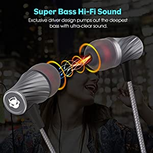 MINDBEAST Super Bass 90%-Noise Isolating Earbuds with Microphone and Case-Amazing Sound Effects and Game Experience for Women, Men, Kids-Headphone Jack Compatible with Apple, Samsung, Sony, Xbox