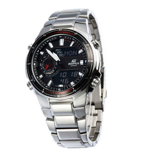 Casio Men's EFA131D-1A1V Silver Stainless-Steel...