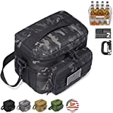 DBTAC Tactical Lunch Bag, Large Insulated Lunch Box for Men Women Adult | Durable School Lunch Pail for Kids | Leakproof Lunch Cooler Tote for Work Office Travel | Easy-Clean Liner x2, Fits 12-Cans