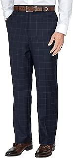Men's Wool Flat Front Suit Pants