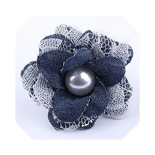 HOT-house Blumen künstlich   5 Stück Pearl Flowers Lace Dress Dekoration Lace Fabric Applique Trimmen Nähzubehör DIY Sewing Craft für Stoffhut Schuhe-7
