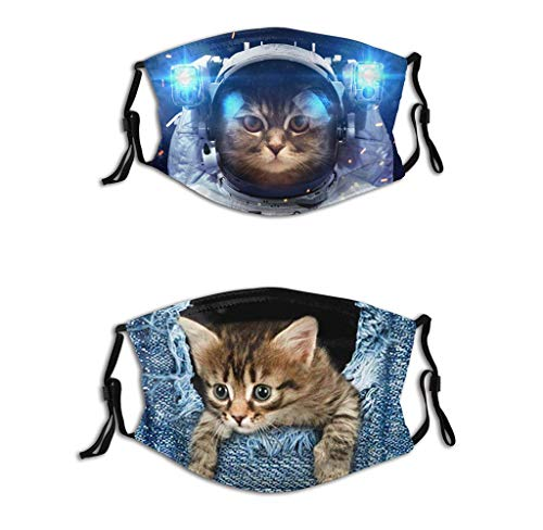Cat face Mask Women Lovely Cloth Face Mask Mens Mask Washables Reusable Funny Adults Mask (Cat Mask, One Size)