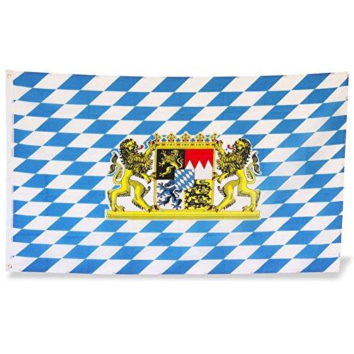 Lion drapeau bayern 90 x 150 cm