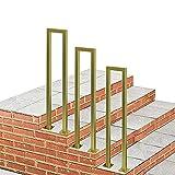 WL-ZZZ Pandrail de Oro para Pasos concreto Cemento y Pasos Madera | Escalera de la Escalera Rieles de Mano para Balcones Terraza Pasos al Aire Libre Pases Pasos la Escalera Se Adapta a 1 Paso