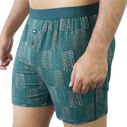 Sweden Trekking Green Relaxed Fit Boxer in Micro Modal