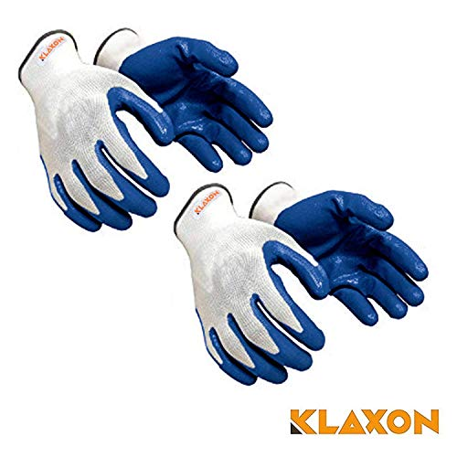 Klaxon Nylon Safety Hand Gloves (2 Pair)