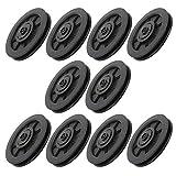 10 unids/set rueda de polea de cojinete duradera rueda de polea de cojinete de repuesto para gimnasio