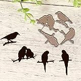 quanjucheer - Fustelle a forma di cerchio, per fai da te, scrapbooking, album fotografici, cartoline, stencil Branch Bird