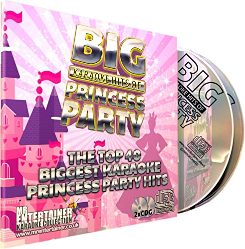 Mr Entertainer Big Karaoke Hits of Princess Party - Double CD+G (CDG) Pack. 40 Best Ever Girls Kids Children's Disney Party Songs. Prinzessin und Kinder Party