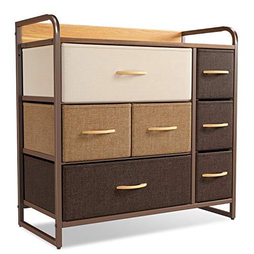CubiCubi Dresser Organizer with 7 Drawer, Furniture Storage Tower Unit