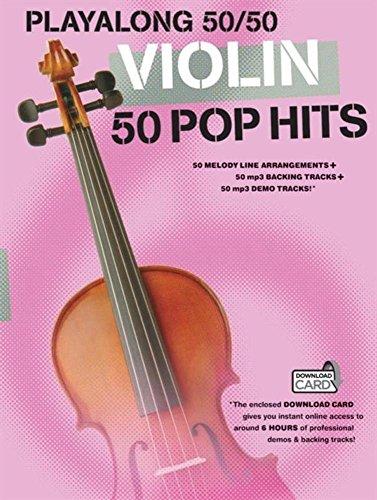 Playalong 50/50: Violin - 50 Pop Hits (Buch & Download Card)