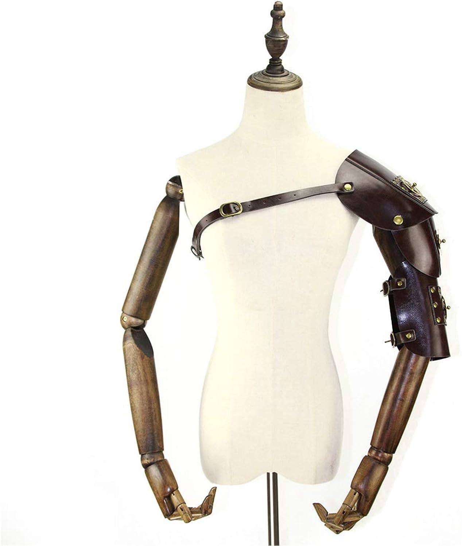 hasta 60% de descuento WEATLY Hombre Hombre Hombre Steampunk Retro Armadura de Cuero con Hombro armaduras Hebillas Disfraz de Halloween CosJugar Props (Color   Style2)  Envío rápido y el mejor servicio