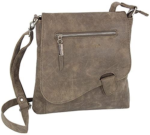 Bag Street - Sac à main - sac à bandoulière - aspect usé - bouton de fermeture, marron (Marron) - 3421