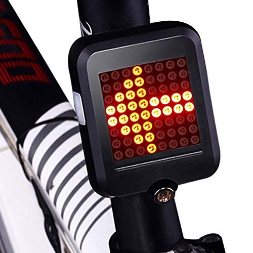Bike Turn Signal and Brake Tail Light, MLSice USB Rechargeable Led Waterproof Smart Bicycle Rear Light with Intelligent Brake Sensor Cycling Warning Direction Indicator Laser Light