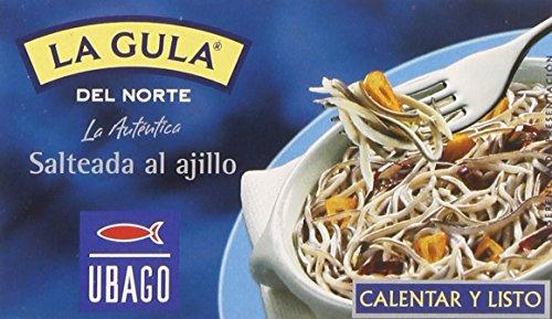 Ubago - La gula del norte - Salteada al ajillo 50 gr - Pack de 5 (Total 250 grams)