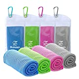 [4 Pack] Cooling Towel (40'x12'), Ice Towel, Soft Breathable Chilly Towel, Microfiber Towel for Yoga, Sport, Running, Gym, Workout,Camping, Fitness, Workout & More Activities - Kuen