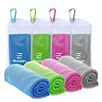 [4 Pack] Cooling Towel (40″x12″), Ice Towel, Soft Breathable Chilly Towel, Microfiber Towel for Yoga, Sport, Running, Gym, Workout,Camping, Fitness, Workout & More Activities