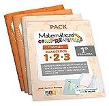 Pack Matemáticas Comprensivas 1º PRIMARIA: Cuadernos Repaso CÁLCULO | EDITORIAL GEU (Niños de 5 a 7 años)