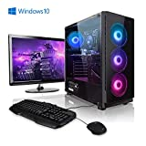 Megaport Gaming-PC Komplett-PC AMD Ryzen 5 3600 6X 3.6 GHz • 24' Bildschirm + Tastatur + Maus • GTX1660 6GB • 16GB 2400 DDR4 • Windows 10 Home • 1TB • WLAN Gamer pc Computer Gaming pc komplettsystem