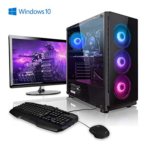 "Megaport Komplett PC Gaming PC AMD Ryzen 5 2600 • 24"" Monitor • Tastatur • Maus • Nvidia GeForce GTX1660 • 16GB DDR4 RAM • 240GB SSD • Windows 10 Home • WLAN Gamer pc Computer komplettpaket"