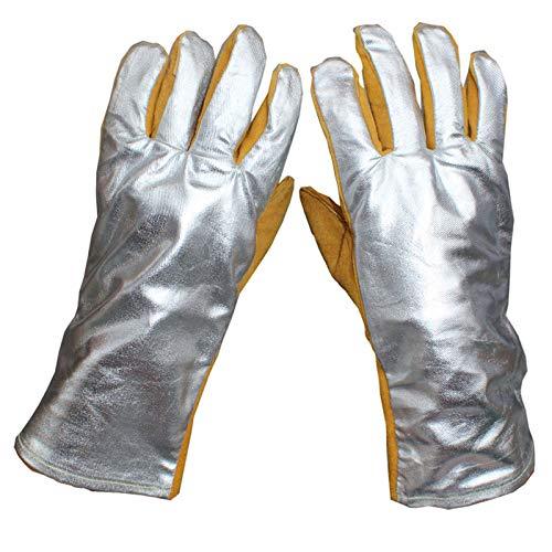 YUHANG Schweißen Von Lederhandschuhen Schutzhandschuhe 500-1000 Grad Hochtemperatur-Feuerwehrhandschuhe Arbeitshandschuhe Für Schweißer