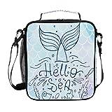 ECHOLI - Bolsa de almuerzo con diseño de cola de sirena, con...