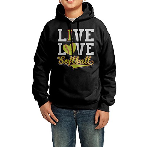 Ive Love - Softball Junior Print Athletic Pullover Drawstring Hoodie Hooded Sweatshirt XL