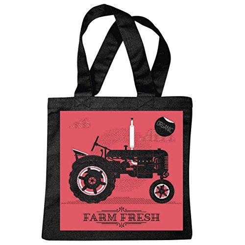 Tasche Umhängetasche Traktor Bulldog SCHLEPPER Farm Lifestyle Fashion Street WEAR Hiphop Legendary Salsa Einkaufstasche Schulbeutel Turnbeutel in Schwarz