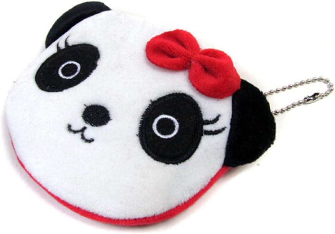 Panda Femelle EJY Bande Dessin/ée Panda Enfants Peluche Coin Sac Zip Sac /À Main Portefeuille Fille Femmes Cadeau