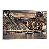 YANDING Louvre Museum Frankreich Paris Poster Dekorative