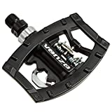 Venzo Dual Function Platform Multi-Use Compatible with Shimano SPD Mountain Bike Bicycle Sealed Clipless Pedals - Dual Platform Multi-Purpose - Great for Touring, Road, Trekking Bikes
